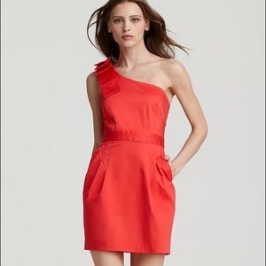 French Connection Wizard Bow One Shoulder Dress 6